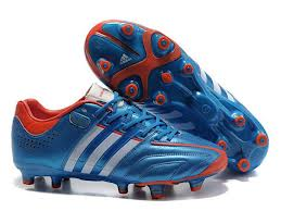soccer boots bluewhitered